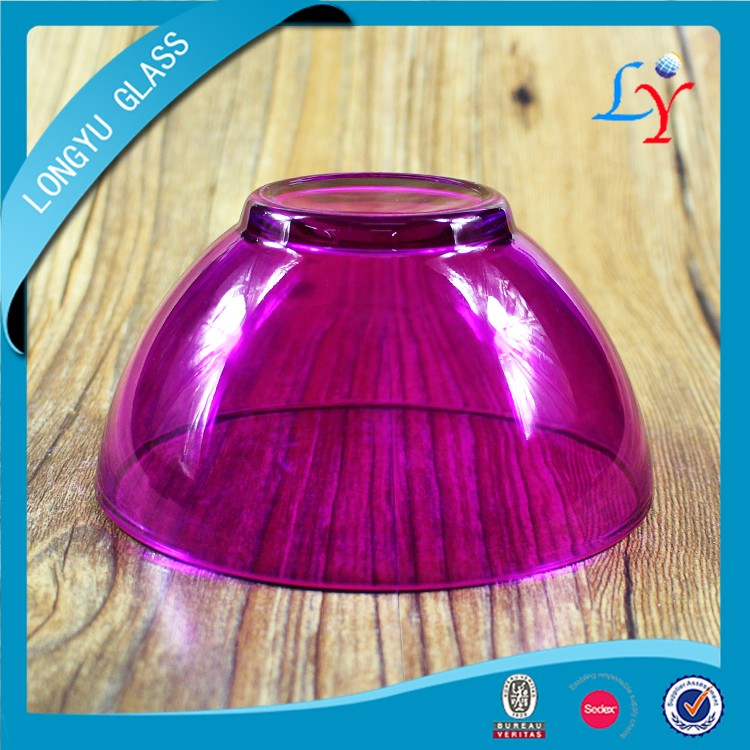 color glass salad bowl heat resistant decorative purple glass bowl for dinnerware