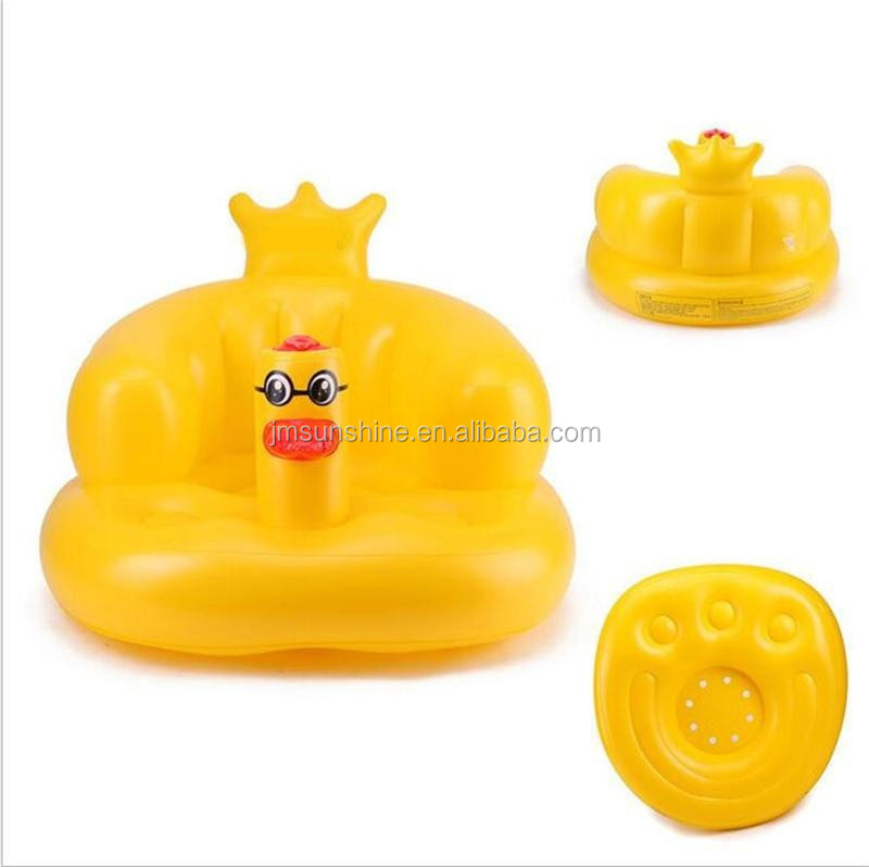 High quality safety baby Inflatable bath chair PVC inflatable baby sofa