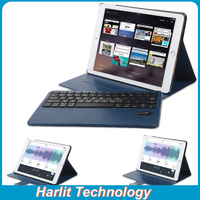 Ultra Slim Leather Case Bluetooth Keyboard Leather Case With Detachable Keyboard For iPad mini 234