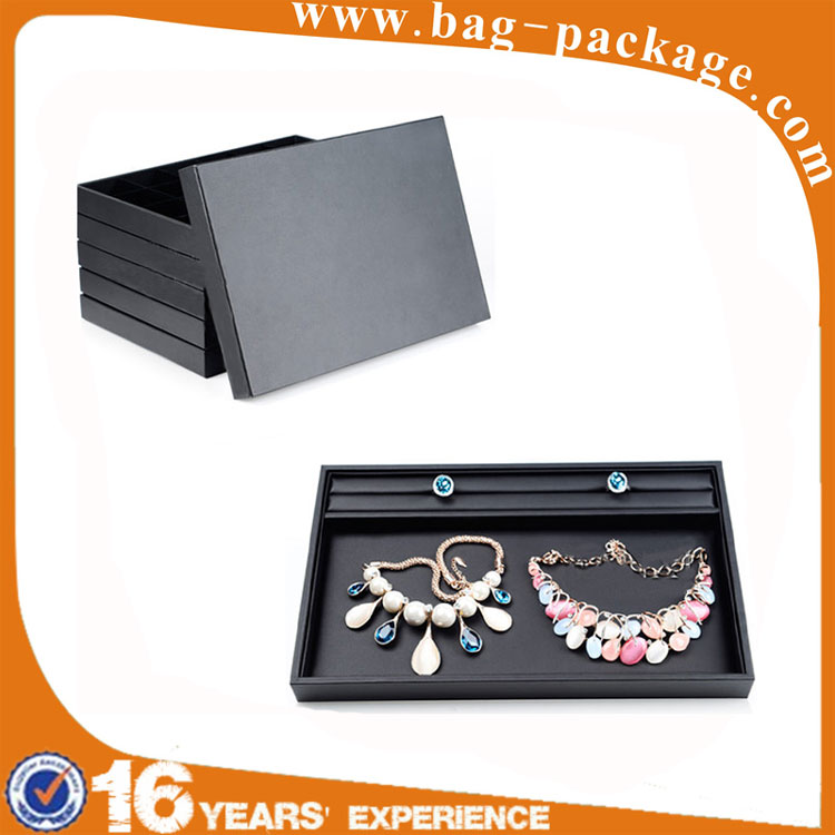 Wholesales custom luxury pu leather portable used jewelry display case