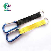China Factory Directed Carabiner Keychain Short Lanyard With Silkscreen printing