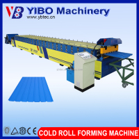 Yibo galvanized steel PPGI PPGL roofing sheet roll forming machine