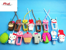 Various silicone gel hand sanitizer holders for 30ml PET bottle