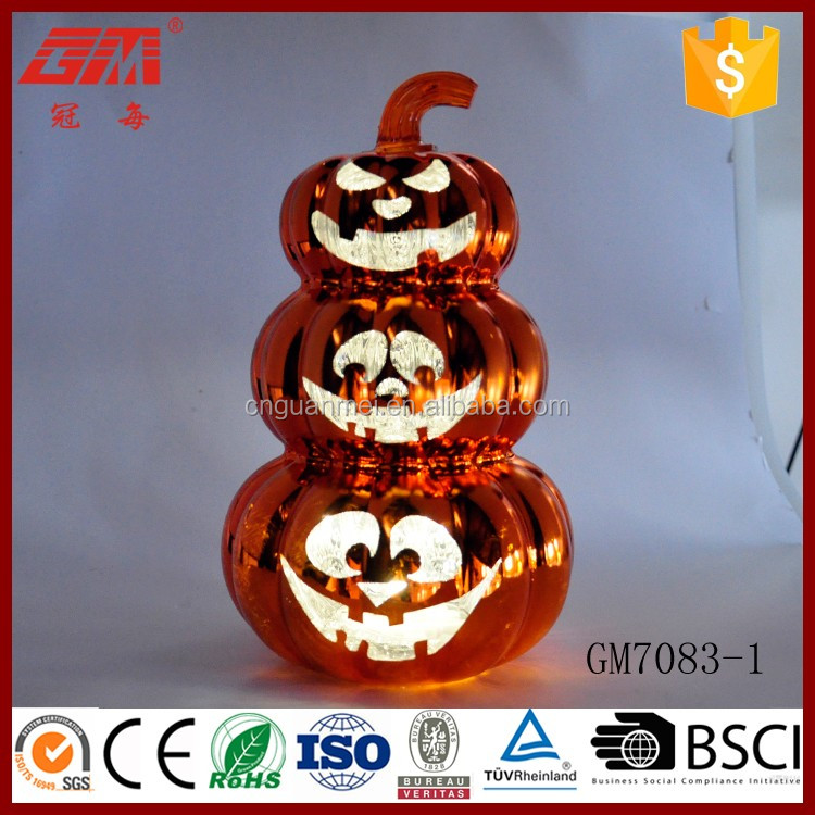 China large glass pumpkin decoration for table