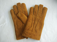 Mens Winter Leather Gloves Thick Pig Suede Glove leather