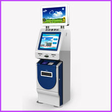 self service automatic ticket dispenser machine payment kiosk with card reader ticket printer
