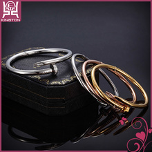 stainless steel artificial twisted cable cuff bangle and bracelet