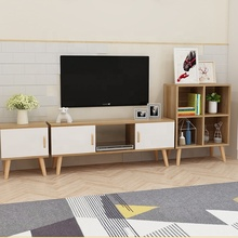 Nordic style cheap modern TV stands cabinet with showcase for living room <strong>furniture</strong>