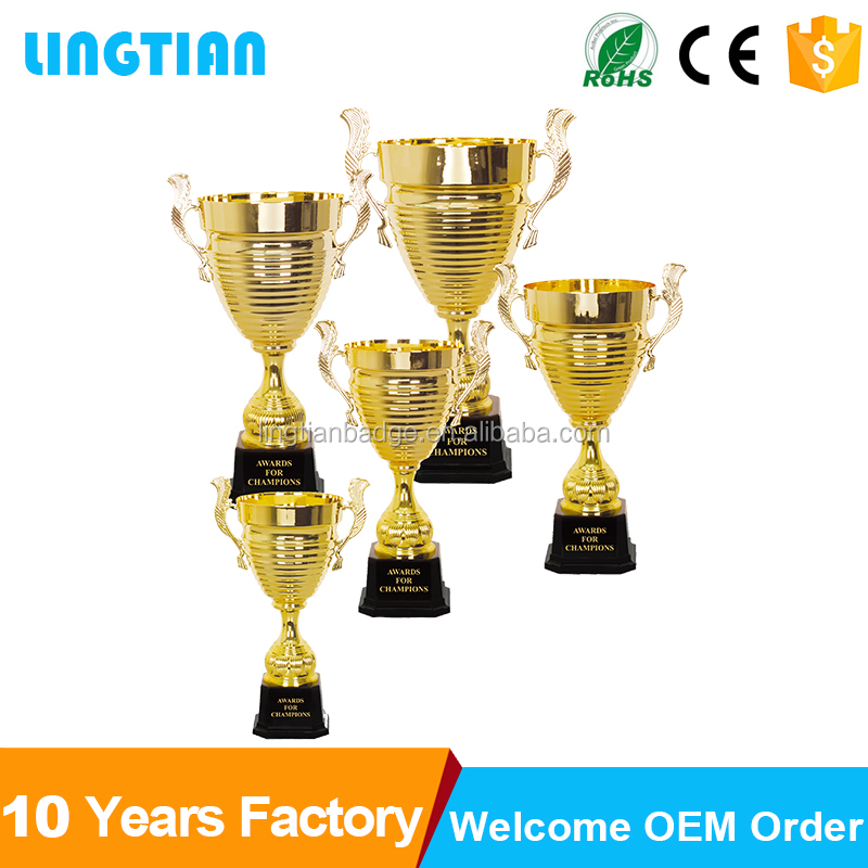 China Factory Wholesale High-End Unique Cheap Metal Sport Cup Trophy