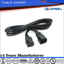 10A 250V Power Cord With Male Female Plug IEC C13 C14