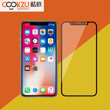 COOKZU 9H 0.33mm 3D Black Side High Clear Tempered Glass Screen Protector Cover Film For Iphone X