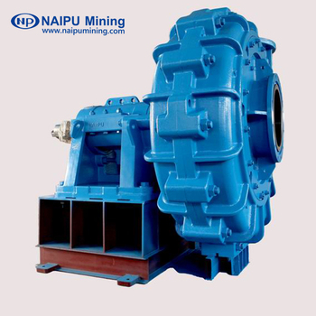 High efficiency rubber-lined centrifugal slurry pumps