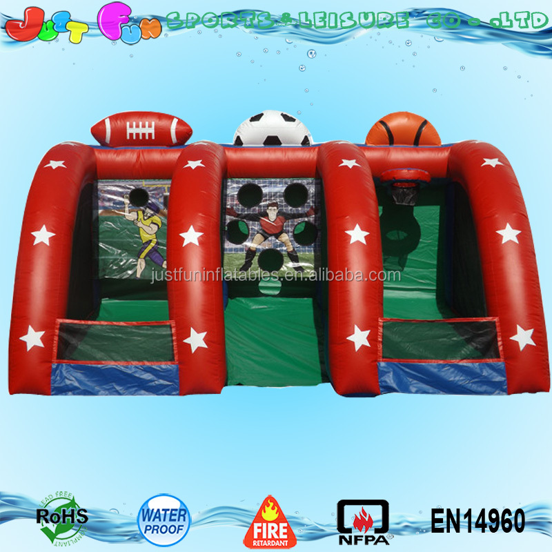 3 in 1 sports game inflatable basketball hoops n rugby n football dart for sale