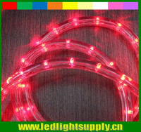 building decoration led rope light 2 wire red duralight 10/12mm round