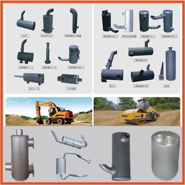latest low price excavator muffler