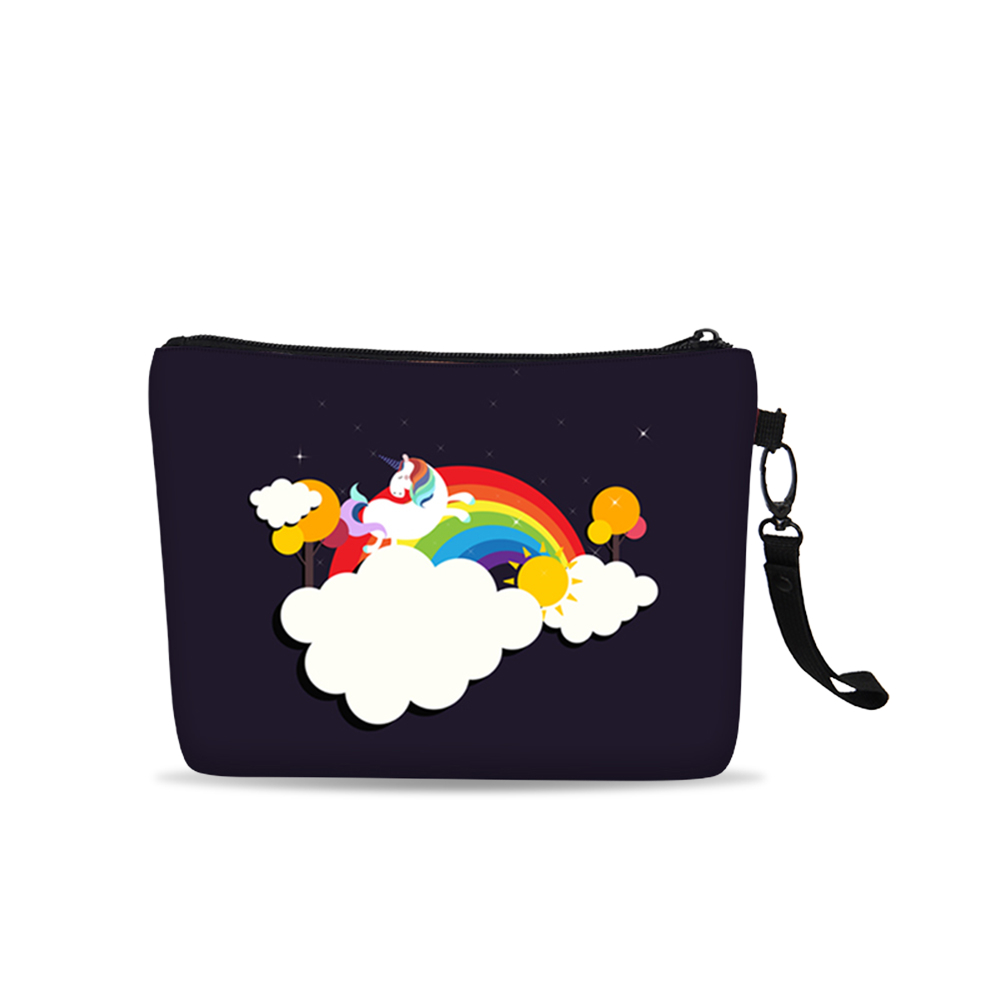 Customized alibaba china fashion practical canvas material women make-up bag for traveling
