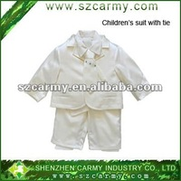 cool new design fashion kid's formal show white five sets suits/children business suit