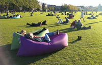 2016 Ecoiou New chilling Lifelamzac hangout fast inflatable sofa/kaisr for Traveling laybag