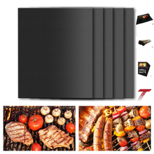 Set of 3 PTFE 100% Non-stick Heat Resistance BBQ Grill Mat