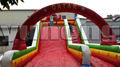 New hot QATAR kids PVC giant inflatable dry slide with pool for adults