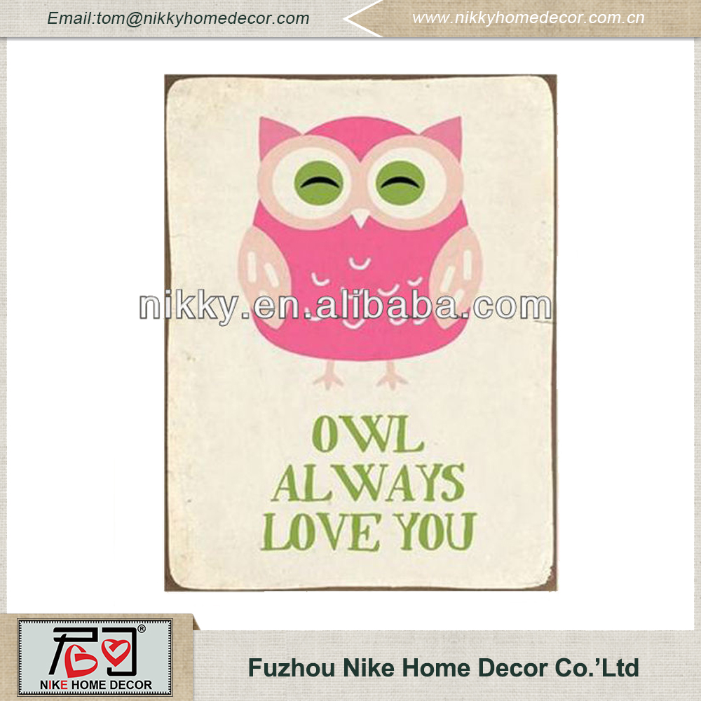 Metal wall art decor,Owl design wall plaque