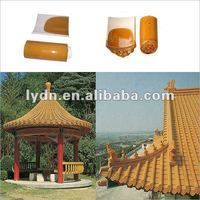 Chinese antique coloured yellow glazed roof tile for sale of high quality and low price