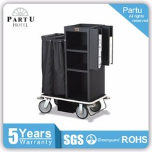 Partu Low Profle Handles Plastic Cleaning Trolley