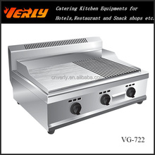 Industrial gas griddle , half griddle and half grill VG-722