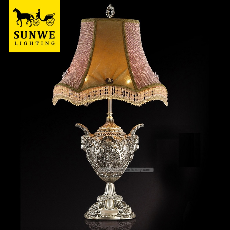 Famous Brand Baroque 2 Lights Home Lampshade Bronze Acryl designer table lamp
