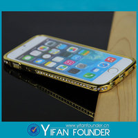 Promotional cheap metal case bumper diamond stone crystal case for apple iphone 4
