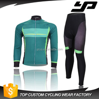 China wholesale specialized cycling jersey set, custom sublimated winter cycling clothing