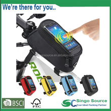 Professional Bicycle Accessories Travel Bicycle Bike Bags Bicycle Top Tube Phone Bag Clear Touch Screen Mobile Phone Bags