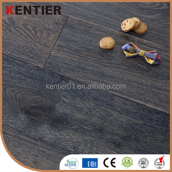 Real oak Light brush engineered flooring