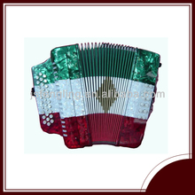 31button 12bass three color diatonic button accordion with mexico flag