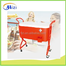 new hand push cooler cart, metal beer ice cooler cart