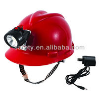 PE High Quality Protective Hat Miner Lamp Safety Helmet for Industrial and Mine Distric Usage
