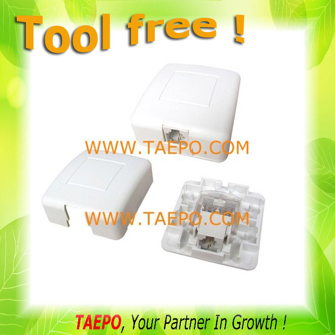 CAT3 RJ11 2P2C tool free gel filled 1-port connection box telephone terminal box