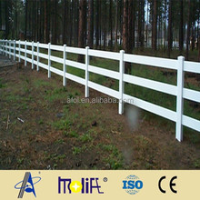 Zhejiang AFOL high quality hot sale high strength 2-rail PVC American farm fencing