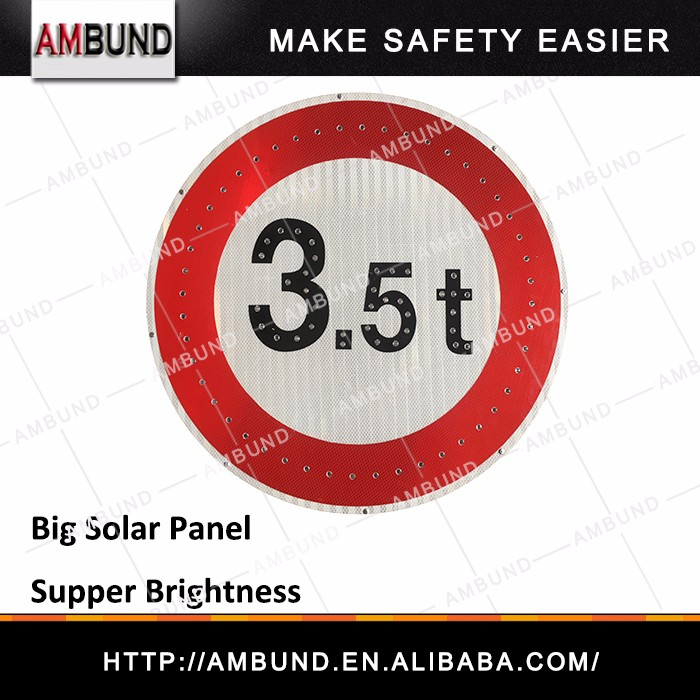 Portable Aluminum Traffic Solar Led Sign