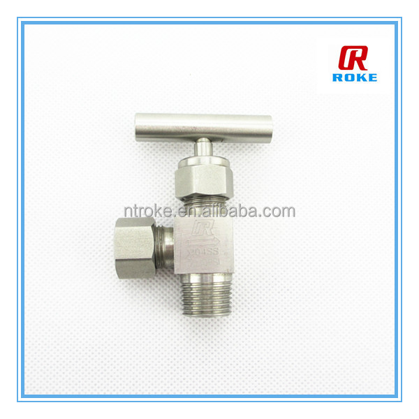 3000psi stainless steel 316 2 way angle needle valve 90 degree