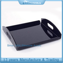 China Factory Hotel Welcome Tray,Coffee Cup Holder Plexiglass Storage Tray