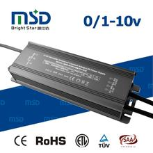 12V 24V 0-10V dimmable LED driver 60W 80W 100W 5 years warranty PF>0.95 efficiency>88%