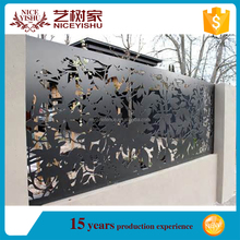 CNC wholesale decorative exterior laser cut metal panel fencing / infill panel / interior panel used for wall compound
