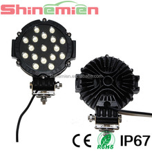 "51w Round Cree LED light 7"" spot Work off road fog driving roof bar bumper 4x4 utv led work lights"