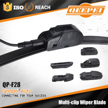 Heated wiper blade with multifunctional type has 6 clips soft windshield wiper