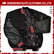 custom made men varsity baseball college jacket real leather sleeves