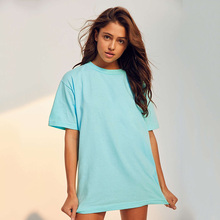 High quality new york wholesale extra long blank t-shirt dress