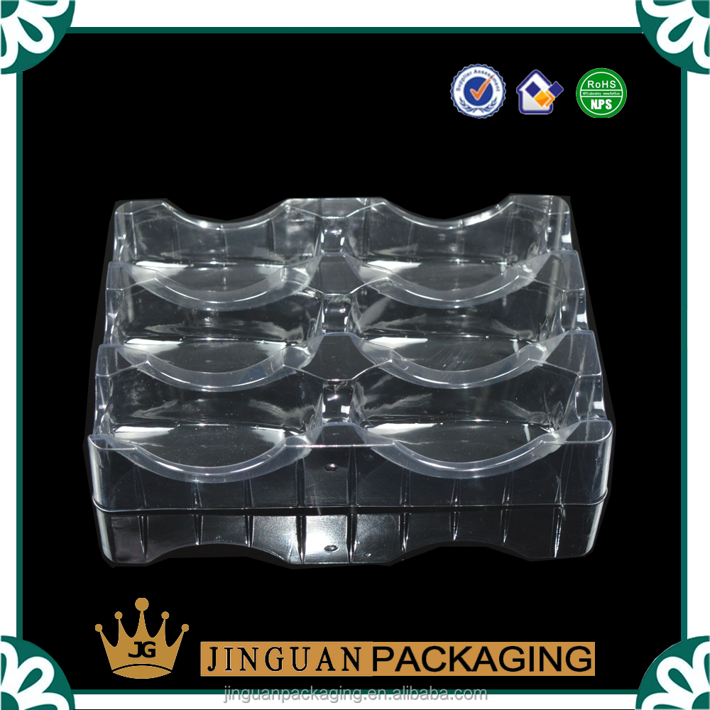 custom vacuum formed plastic packing tray , clear plastic blister tray