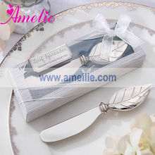 A0922 Metal Leaves Wedding Table Decoration Butter Spread Knife