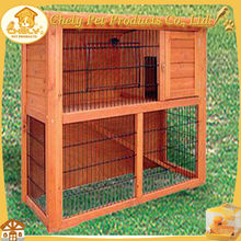 Cheap 2015 New Double Decker Wooden Rabbit Farm For Sale With Ramp And Run Pet Cages,Carriers & Houses